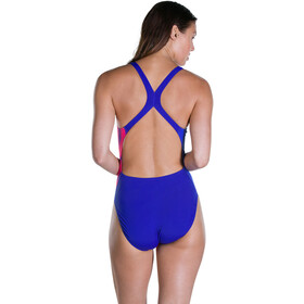 speedo DashFlash Placement Powerback Swimsuit Damen ultrasonic/pink/bubblegum pink